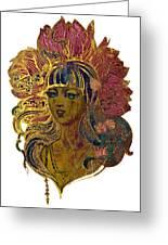 Goddess Lotus Greeting Card