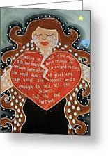 Goddess Of Grief Greeting Card