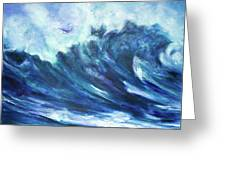 Goddess Of The Waves Greeting Card