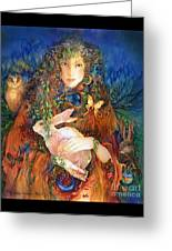 Goddess Ostara Greeting Card