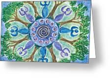 Goddesses Dancing Greeting Card