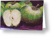 Gods Little Green Apples Greeting Card