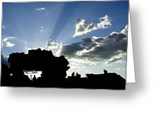God's Rays At La Fenetre Greeting Card