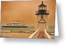 Godspeed At Brant Point Nantucket Island Greeting Card