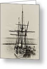 Godspeed At Port In Jamestown Greeting Card