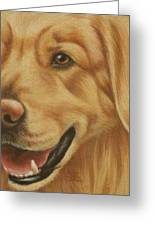 Goggie Golden Greeting Card