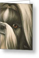 Goggie Shih Tzu Greeting Card
