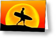 Goin' For A Surf Greeting Card