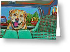Goin' To Mickey D's With My Peeps Greeting Card