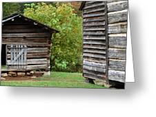 Goin' To The Wood Shed Greeting Card