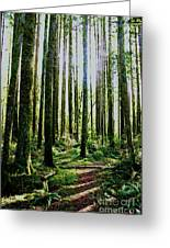 Going Green Greeting Card by Dean Edwards