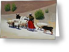 Going Home, Peru Impression Greeting Card