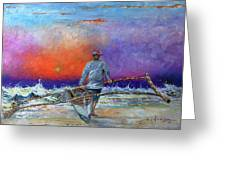 Going To Fish Greeting Card