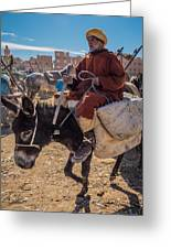 Going To The Rissani Market Greeting Card