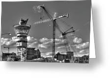 Going Up Midtown Atlanta Construction Art Greeting Card