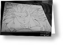 Goku Dbz Greeting Card