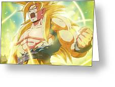 Goku Super Saiyan Greeting Card