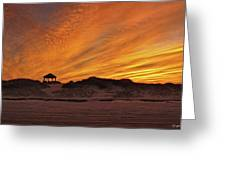 Gold Above Them Thar Dunes Greeting Card