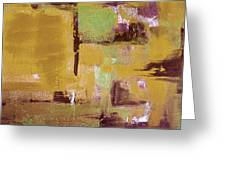 Gold Abstract Greeting Card