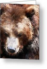 Bear // Gold Greeting Card