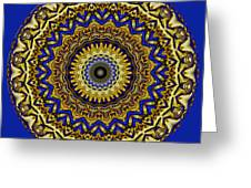 Gold And Sapphires  Greeting Card