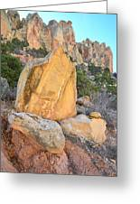 Gold Boulder Greeting Card