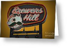 Gold Brewers Hill Greeting Card