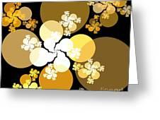 Gold Brown Spheres Greeting Card
