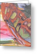 Gold Butterfly Paintng Abstract Greeting Card by Don  Wright