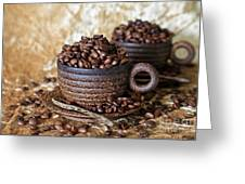 Gold Coffee Greeting Card by Tracy Hall