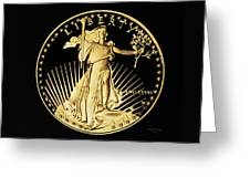 Gold Coin Front Greeting Card