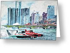 Gold Cup Race On Detroit River Greeting Card