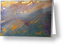Gold Dust Abstract Painting Greeting Card