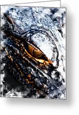 Gold Gator Eye Greeting Card