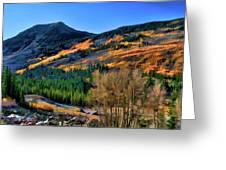 Gold In The Rockies Greeting Card