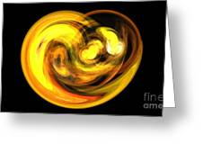 Gold Lava Greeting Card