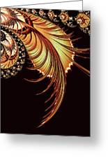 Gold Leaf Abstract Greeting Card