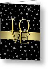 Gold Love  Greeting Card