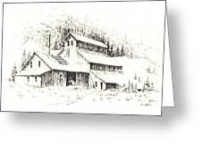 Gold Mine Cable Ghost Town Montana Greeting Card