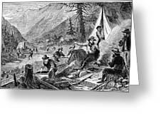Gold Mining, 1853 Greeting Card