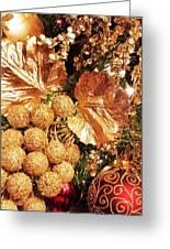 Gold Ornaments Holiday Card Greeting Card