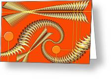 Gold Pipes Greeting Card