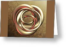 Gold Pretzel Greeting Card