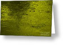 Gold Rain Droplets Greeting Card