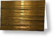 Gold Sea Greeting Card