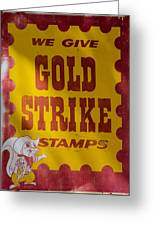 Gold Strike Stamps Greeting Card