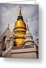 Gold Stupa Greeting Card