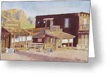 Gold Town By Superstition Mountains Greeting Card