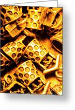 Gold Treasures Greeting Card