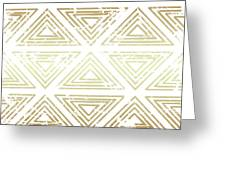Gold Tribal Greeting Card